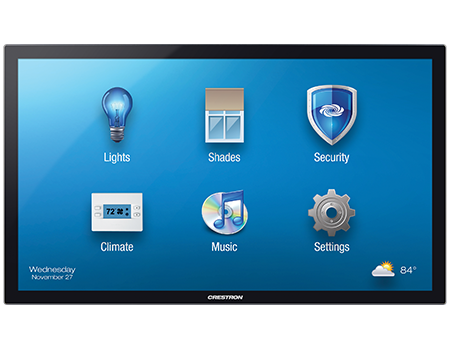 crestron home touchpanel